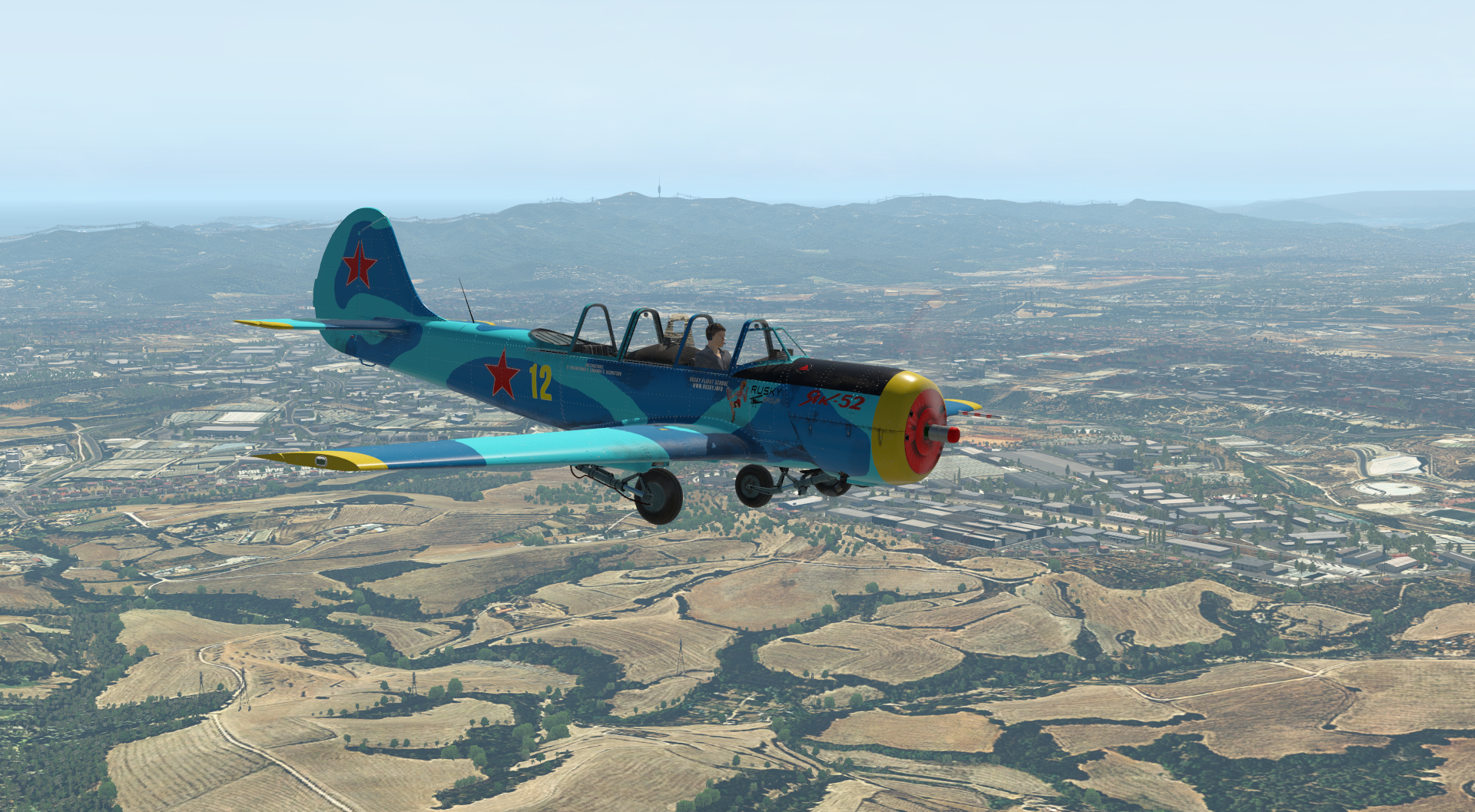 Review YAK-52 de Rusky Group X-Plane 11