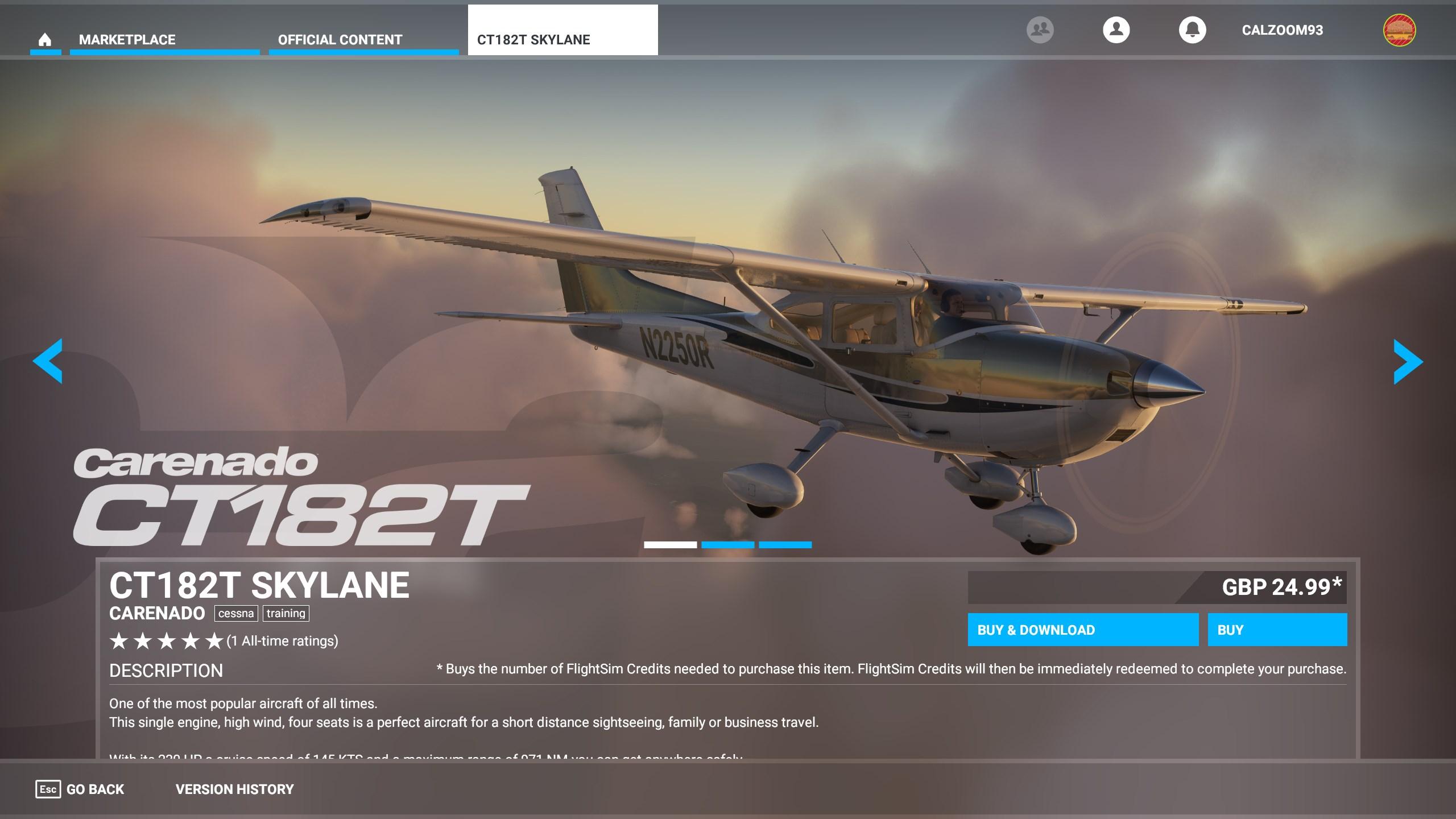 Carenado lanza CT182T Skylane para Microsoft Flight Simulator