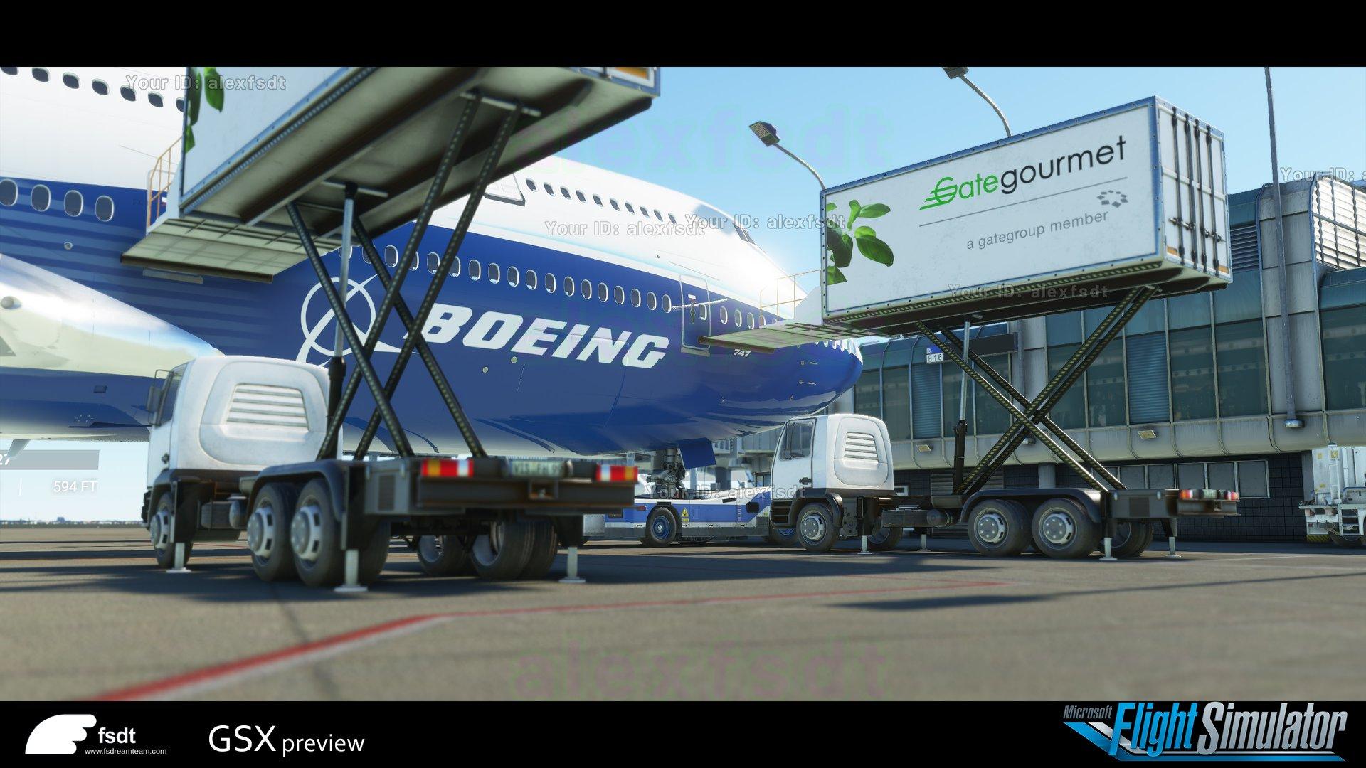 FSDreamTeam y FS2Crew Presentan Ground Services X(GSX) y pushback Express para Microsoft Flight Simulator