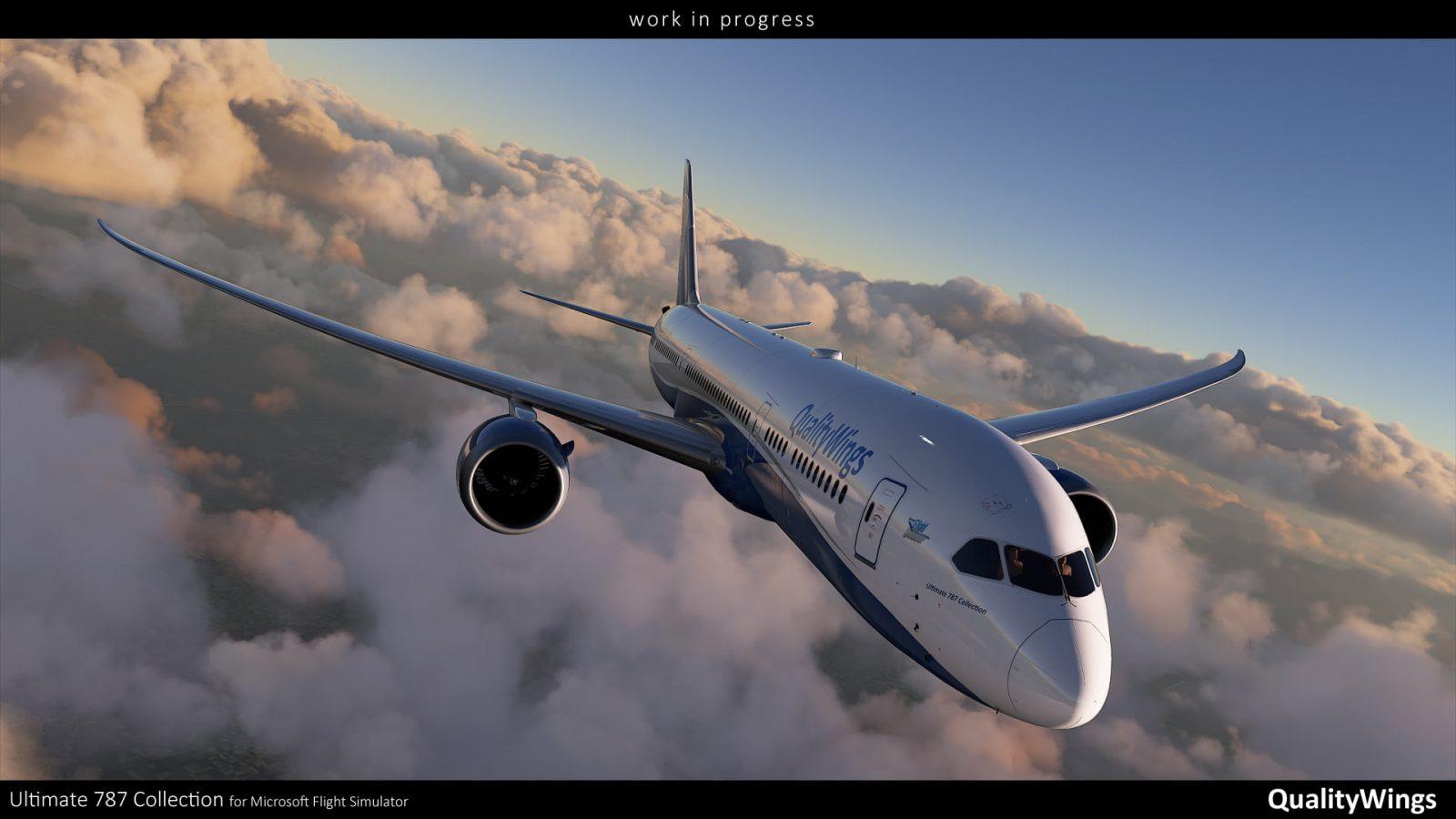 Primeras imágenes del 787 de QualityWings en Flight Simulator 2020