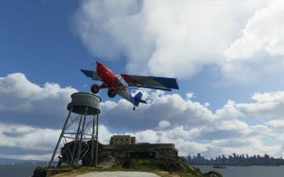Isla de Alcatraz escenario gratuíto Flight Simulator