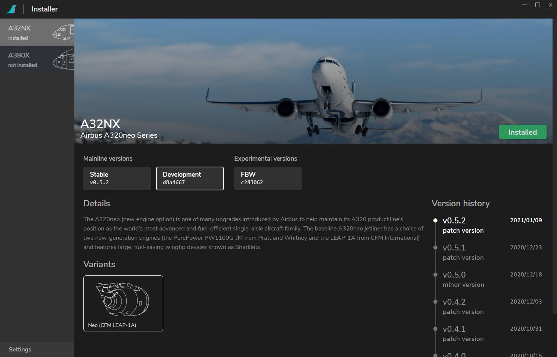 Instalador FlyByWire A320