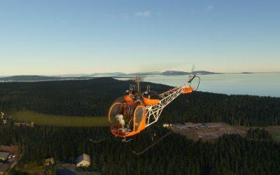 Flyinside Bell47-G2 para Microsoft Flight Simulator