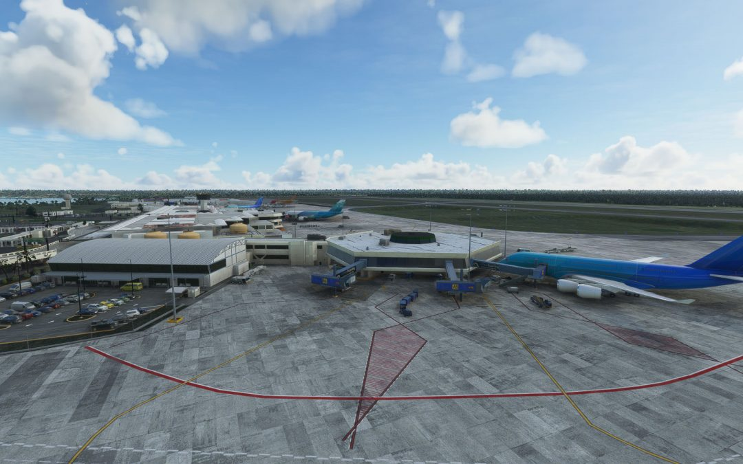 BravoAirSpace Las Americas Airport para Microsoft Flight Simulator